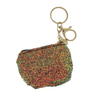 SEQUIN BACK PACK KEYCHAIN