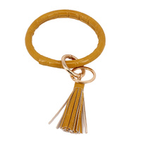 BANGLE KEYCHAIN W/ TASSELS
