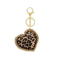 ANIMAL PRINT HEART KEY CHAIN