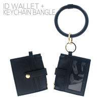 ID WALLET W/ KEYRING BANGLE