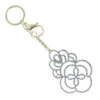 FLORAL CHARM KEYCHAIN