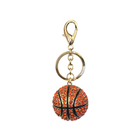 Stone Encrusted Basketball Keychain Charm Kcl006