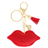LIPS KEYCHAIN WITH TASSEL