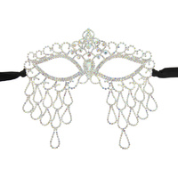 ROYAL RHINESTONE MASQUERADE MASK