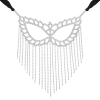 FULL FACE RHINESTONE FRINGE MASK