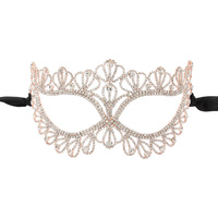 SCALLOPED DETAIL RHINESTONE MASK