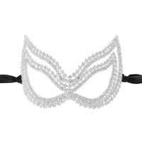 CAT EYES RHINESTONE MASK