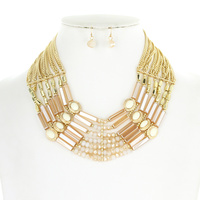 7 LINE LAYERED NECKLACE SET