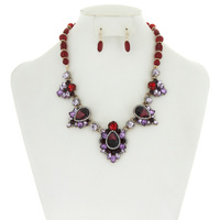 BEADED NECKLACE EARRING