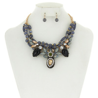 TWISTED BEAD FASHION NECKLACE SET