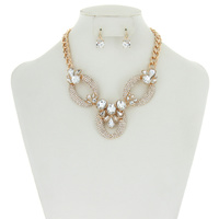 LINKED RHINESTONE NECKLACE