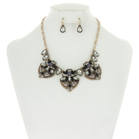 RHINESTONE FASHION NECKLACE SET