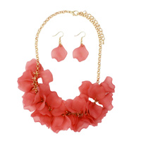 ACRYLIC FLOWER NECKLACE SET