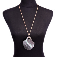 LONG NECKLACE W/ SHELL PENDANT