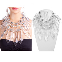 LRG CHUNKY CRYSTAL DROP NECKLACE SET