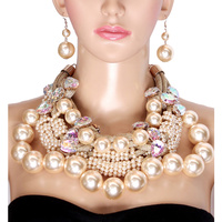 FANCY PEARL N METAL ROPE NECKLACE