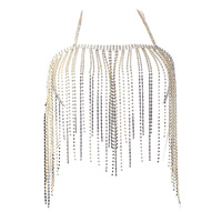DANGLY RHINESTONE FRINGE TOP