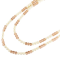 LONG ANTERNATING BEADED NECKLACE