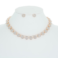 RND LINKED RHINESTONE NECKLACE