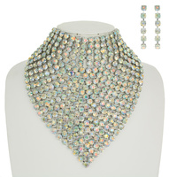 RHINESTONE BIB NECKLACE SET