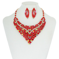 STATEMENT RHINESTONE NECKLACE SET