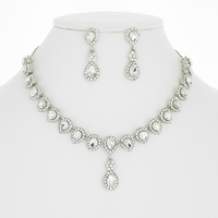 DROP RHINESTONE MINIMAL NECKLACE SE