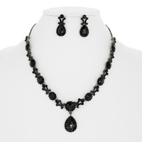 VICTORIAN RHINESTONE NECKLACE SET