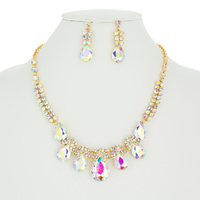 DETAILED RHINESTONE NECKLACE SET