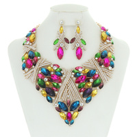 FANCY DIAMOND BIB NECKLACE SET