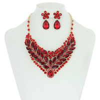 PETAL FLOWER NECKLACE SET