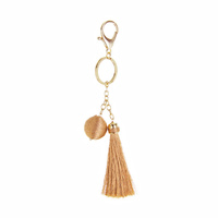 THREAD BALL  AND TASSEL KEY CHAIN / PURSE CHARM