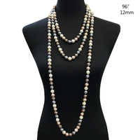 "96"" ENDLESSS 12MM PEARL NECKLACE"