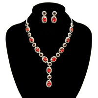 EVENING RHINESTONE NECKLACE SET