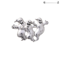 3 GHOST HALLOWEEN BROOCH