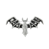 RHINESTONE BAT BROOCH