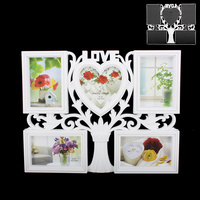 "PHOTO FRAME WITH ""LOVE"" ON TOP 5-4X6, WHITE"