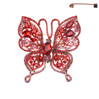 BUTTERFLY BROOCH W/GEMS