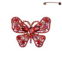 BUTTERFLY BROOCH W/SMALL GEMS