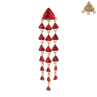 TRIANGLE WATERFALL STONE PIN BROOCH
