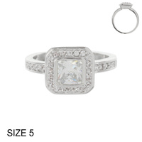 RADIANT CUT CZ ENGAGEMENT STYLE RING