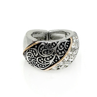 TAYLORED LOOK METAL STRETCH RING