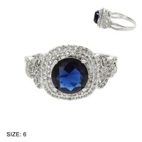 ENGAGEMENT STYLE RING W/SAPPHIRE CENTER STONE