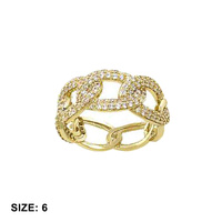 CHAIN LINK LOOK SIZED CZ RING