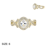SIZED CZ ENAGAGEMENT STYE RING