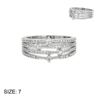 SIZED WIDE CZ BAND RING