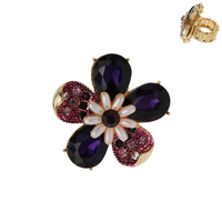 5 PETAL FLOWER STRETCH RING