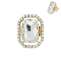 REC RHINESTONE STRETCH RING
