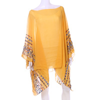 LIGTHWEIGHT EMBROIDED PONCHO