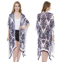 LONG LIGHT WEIGHT KIMONO W/ TASSELS