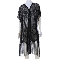 LACE COVER UP W/ TASSELS